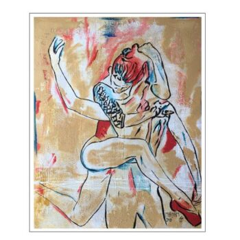 Maryam Bashari Rad - Schilderij - Dance passion #7