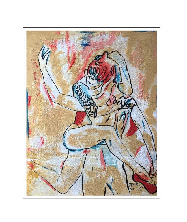 Maryam Bashari Rad - Schilderij - Dance passion #7
