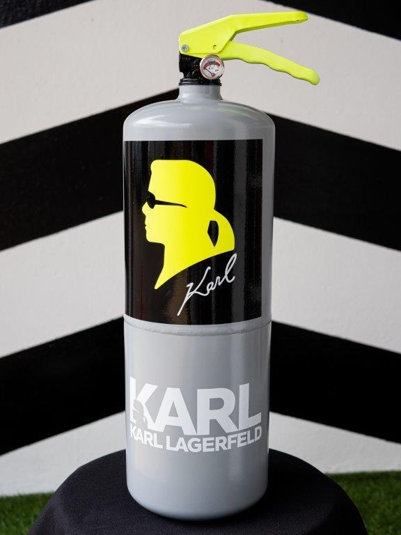 Jogis Art - Pop Art - Brandblusser Karl Lagerfeld