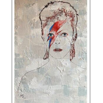 Maryam Bashari Rad - Schilderij - First day with David Bowie