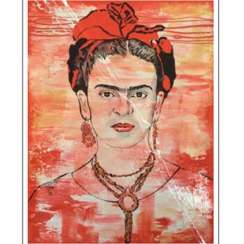 Maryam Bashari Rad - Schilderij - First day with Frida Kahlo