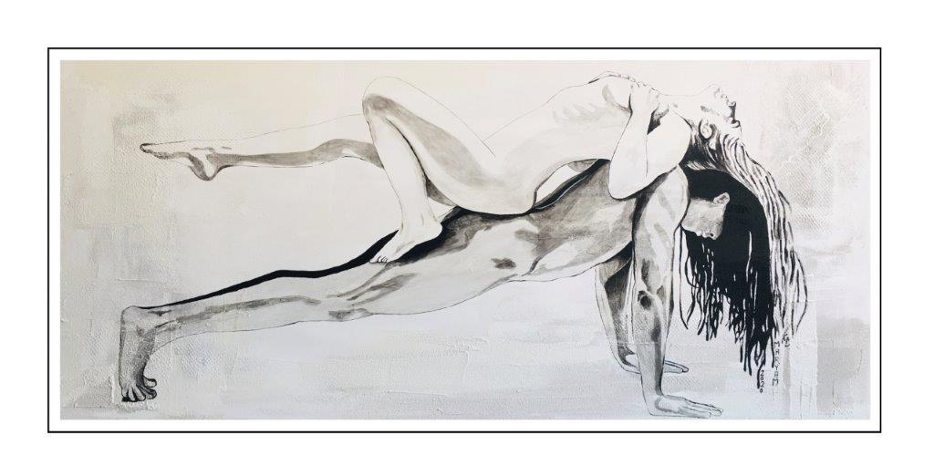 Maryam Bashari Rad - Schilderij - Lay all your love on me