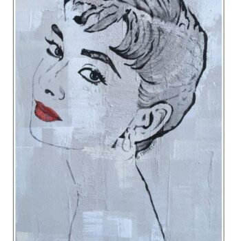 Maryam Bashari Rad - Schilderij - Second day with Audrey Hepburn