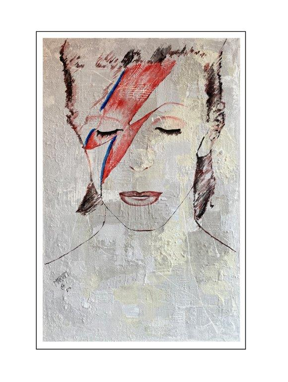 Maryam Bashari Rad - Schilderij - Second day with David Bowie