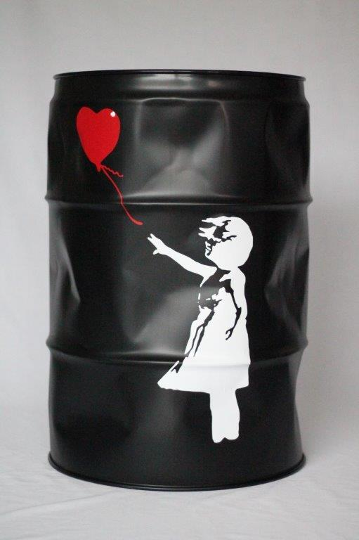 Suketchi - PopArt - Balloon Girl Barrel (Banksy Inspired)