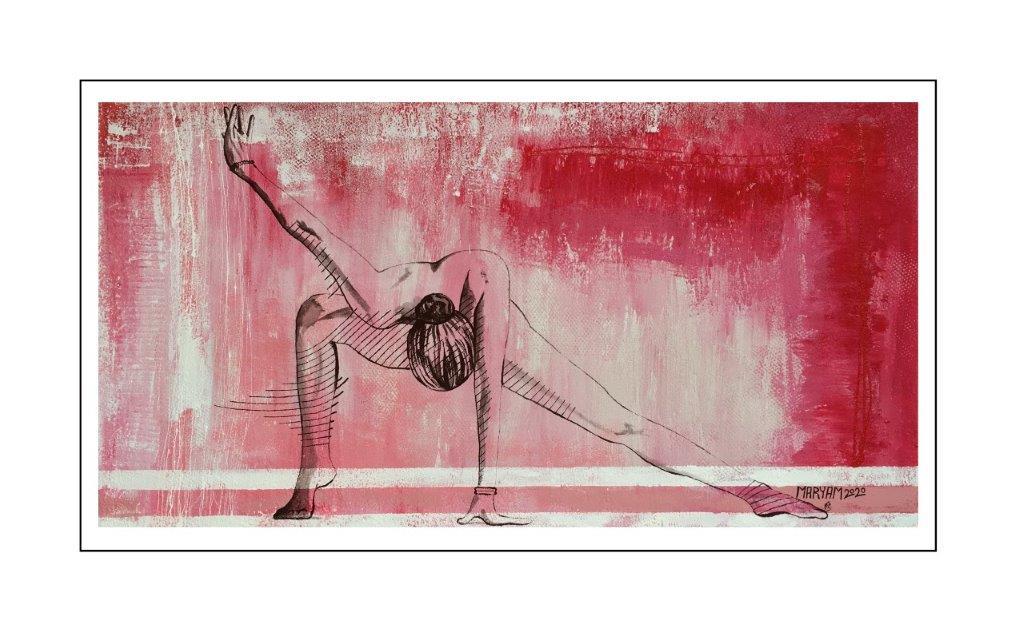 Maryam Bashari Rad - Schilderij - Zen with me #15