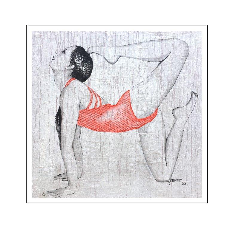 Maryam Bashari Rad - Schilderij - Zen with me #16