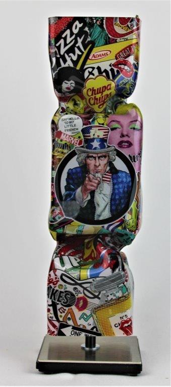 Michael Daniels - Kunstcadeau - Art Candy Toffee - I want you 30 cm