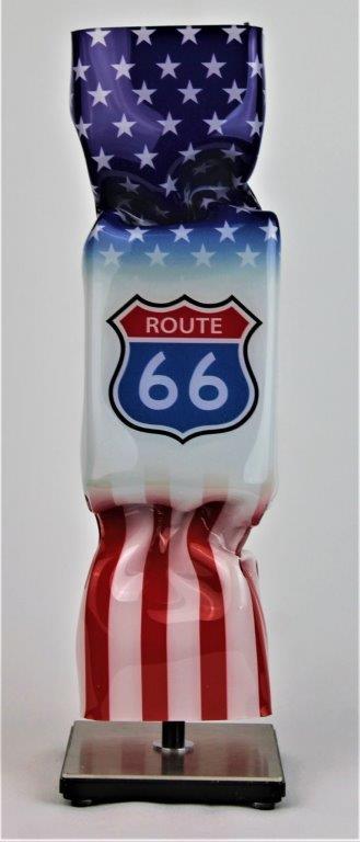 Ad van Hassel - Kunstcadeau - Art Candy Toffee - Route 66 30cm