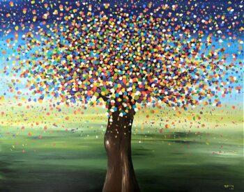 Betty Besselsen - Schilderij - Confettiboom