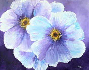 Betty Besselsen - Schilderij - Deep purple