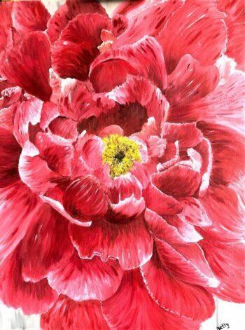 Betty Besselsen - Schilderij - Heart of the rose