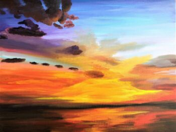 Betty Besselsen - Schilderij - Ocean sunset