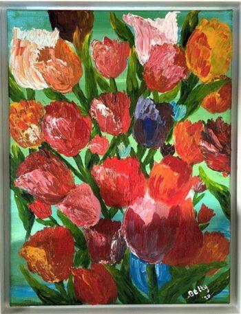 Betty Besselsen - Schilderij - Tulpen