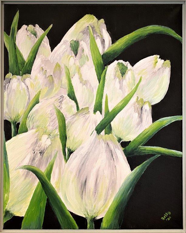 Betty Besselsen - Schilderij - Wintertulpen